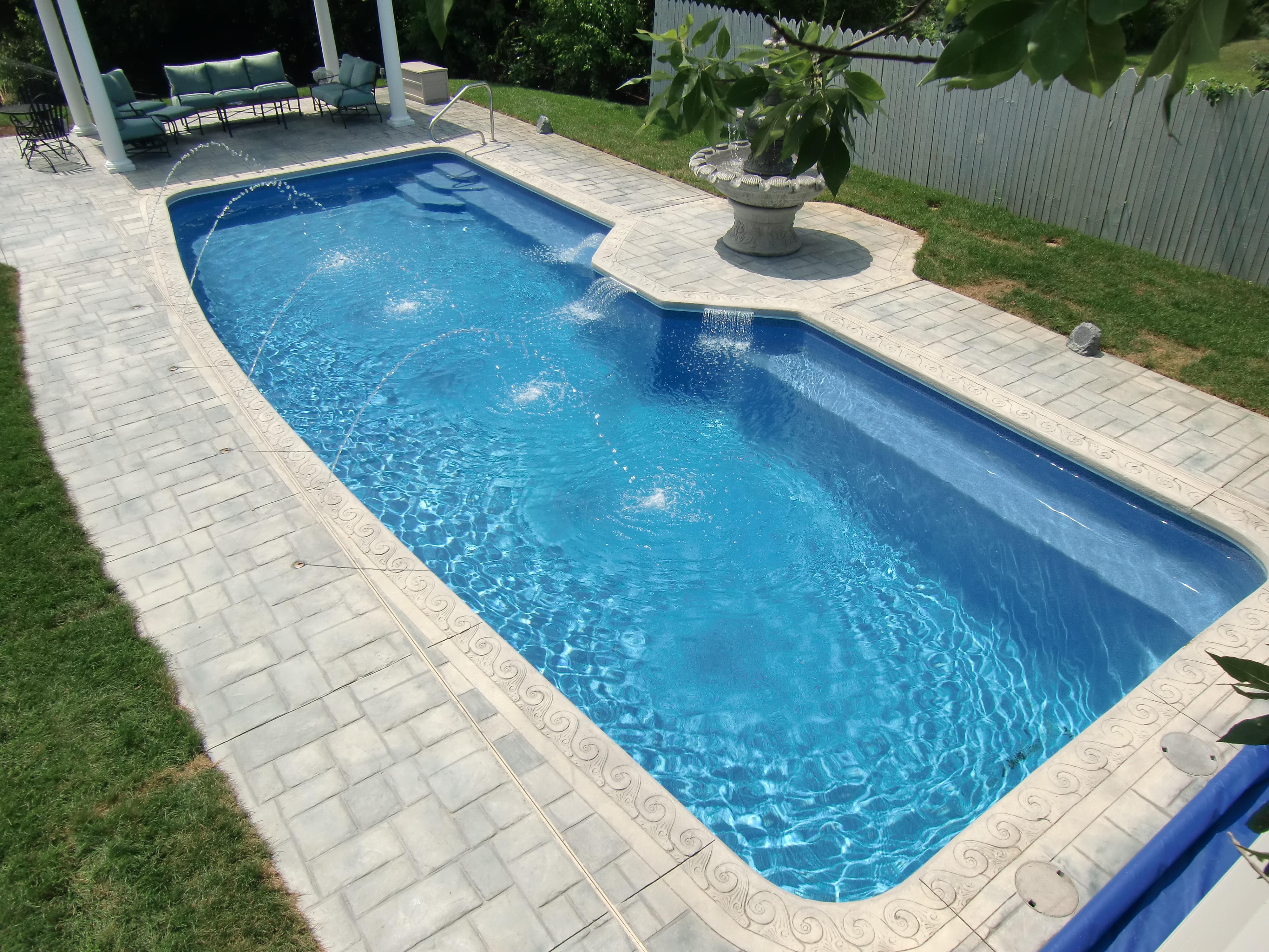 Inground Pool. Indiana Fiberglass Swimming Pool Inground R