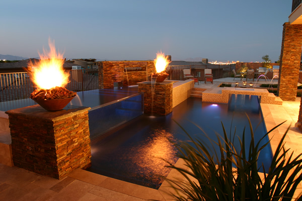 Other features - Pool fire bowls ...