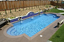 Classic fiberglass pool designs