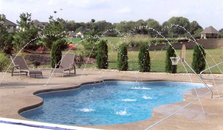 indiana swimming pool with deck jets