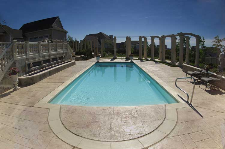 fiberglass indiana inground pool