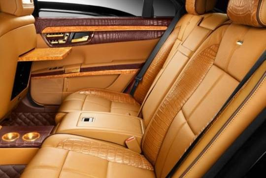 This beautiful luxury car interior is both extravagant and tastefully stylish.