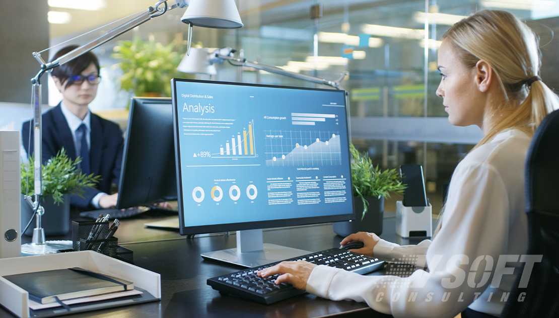 Data analyst analyzing stats to plot anomaly in the business and operations data