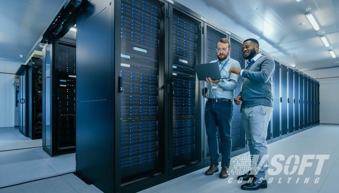 IT Team working in data center