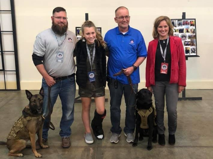 Justin Troxell, Veteran with service dog at Dogs Helping Heroes