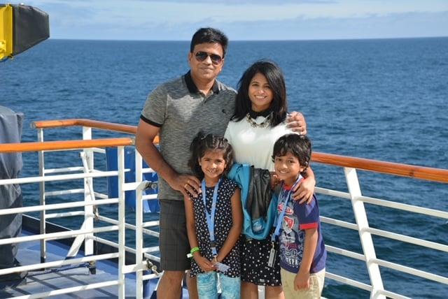 CTO Sanjay Kommera V-Soft Consulting  with Family