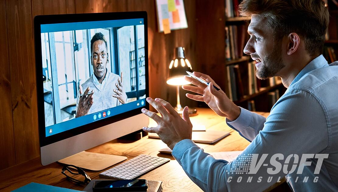 Staffing Candidate interviewing remotely in 2021