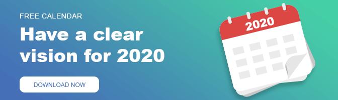WeVideo 2020 marketing calendar