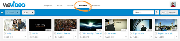 WeVideo Export Hub