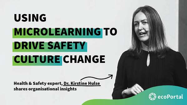 How to use microlearning to drive safety culture change