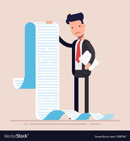 businessman-or-manager-hold-a-long-list-or-scroll-vector-14287167