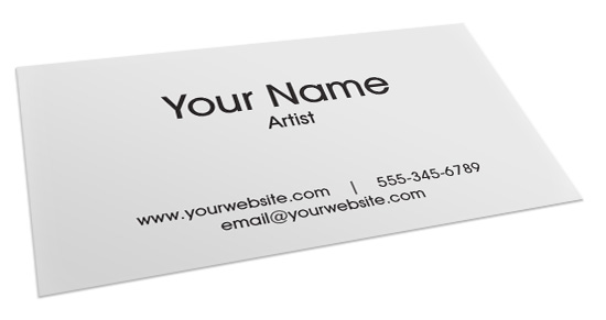 How to make a business card for artists what you need to for Generic business cards