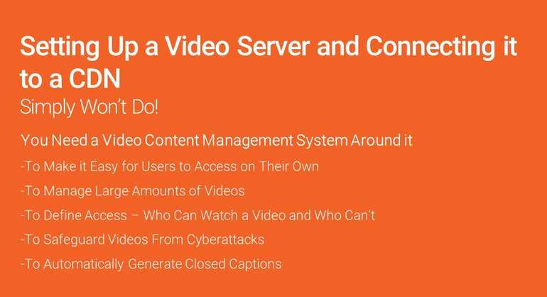 Video Streaming Server Infographic
