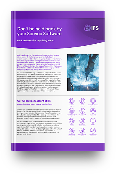 Why Choose IFS for Service Management Guide