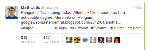 Matt Cutts Penguin Announcement | 2.1: The Penguin Update Strikes Again!