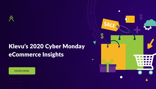 Klevu's 2020 Cyber Monday  eCommerce Insights