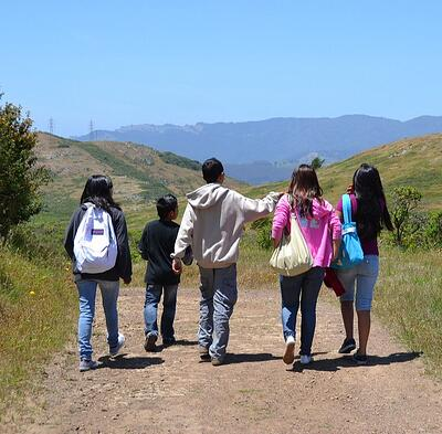 Group of youth hiking - AB - 12-01-2011