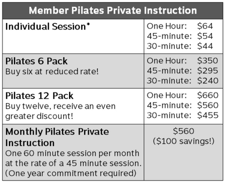 2Pilates5-Member private instruction