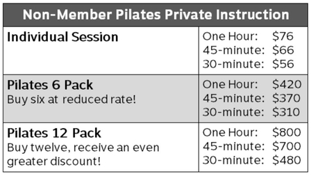 2Pilates5-Non-member private instruction