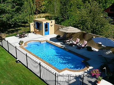 Inground pools rintoul 39 s leisurescapes above ground for In ground pool fence ideas