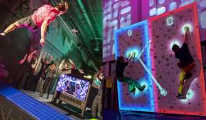 Non-stop trampoline jumping and wall climbing at IAAPA Expo Europe