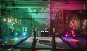 Hygienic and digital trampoline attraction