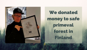 We donated money to protect primeval forest in Finland