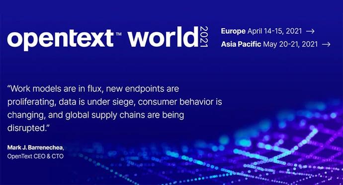 Heeros mukana OpenText World Europe -tapahtumassa huhtikuussa 2021