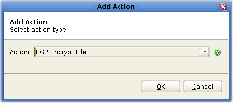 mft server trigger action pgp encrypt
