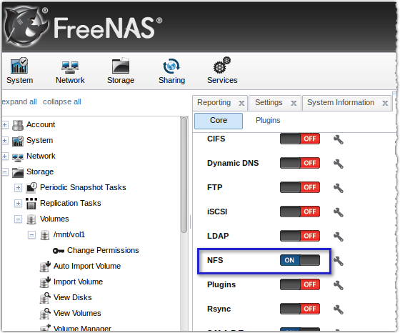 freenas nfs on