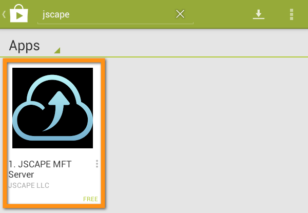 jscape mft server app in google play