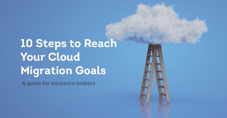 Novidea cloud based migration goals with ladder and cloud