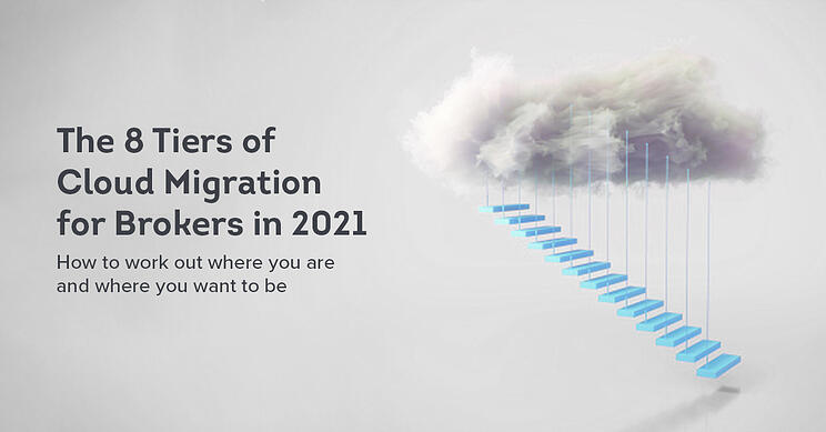 Novidea's 8 tiers of cloud migration graphic