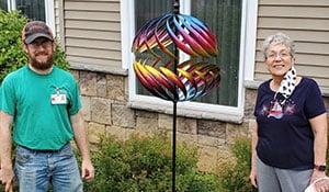 Garden Spinner Installed for New Assisted Living Resident