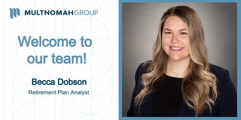 Welcome Becca Dobson!