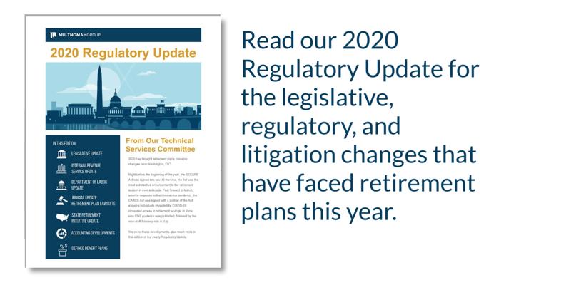 2020 Retirement Plan Legislative Update