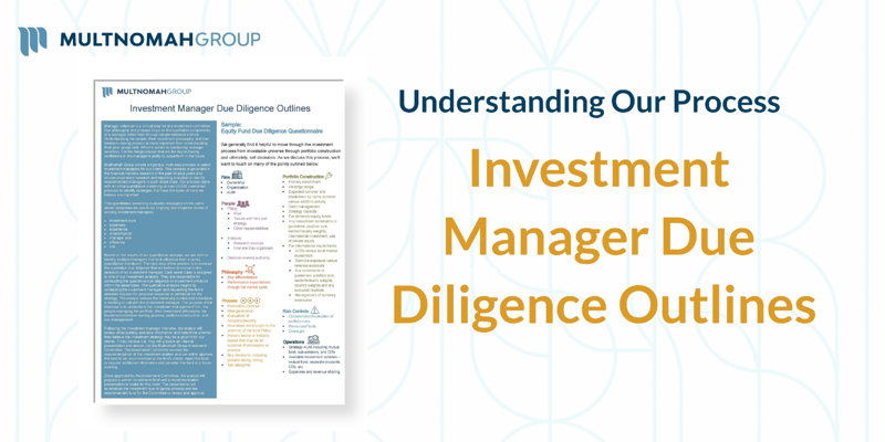 Investment Manager Due Diligence Outlines