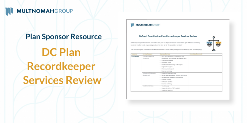 DC Plan Recordkeeping Services Review