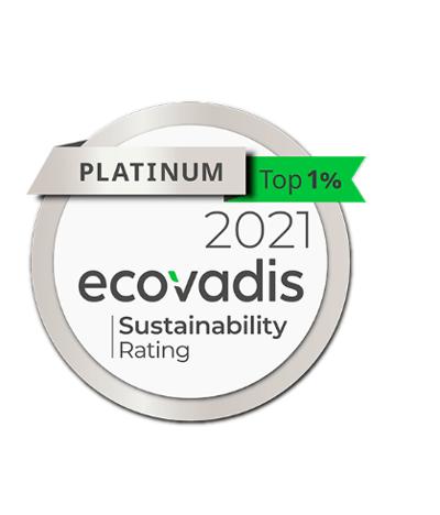 médaille de platine ecovadis Toyota material handling Europe