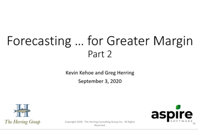 2020 Aspire & The Herring Group Forecasting Webinar Series Part 2