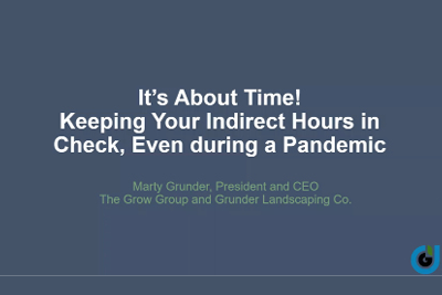 It's About Time: Webinar on Indirect Time