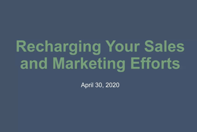 Recharging Your Sales and Marketing Efforts