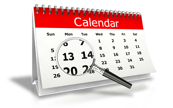 Month End Calendar