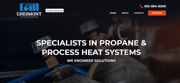 EZMarketing Builds Website for Chesmont Engineering Company