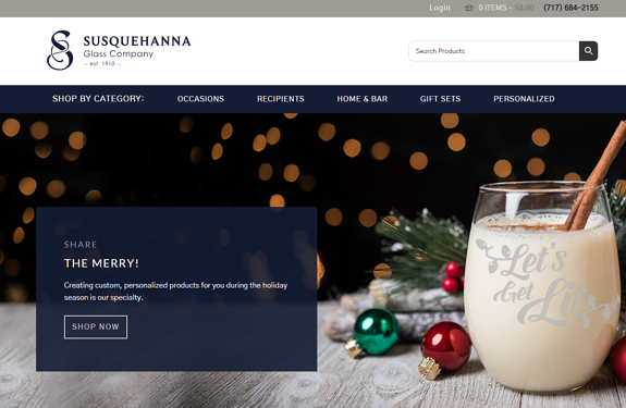 EZMarketing Builds New Website for Susquehanna Glass