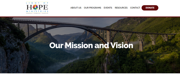 EZMarketing Builds New Website for Light of Hope Ministries