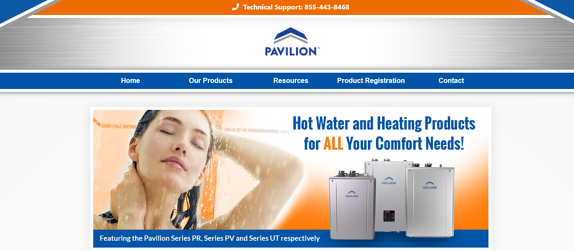 EZMarketing Constructs Website for the Pavilion Tankless