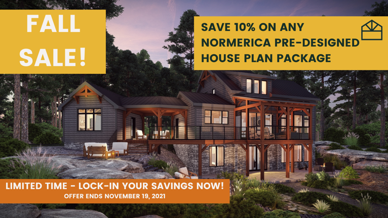 2021 Fall Sale: Save 10% on ANY Pre-Designed Normerica House Plan Package