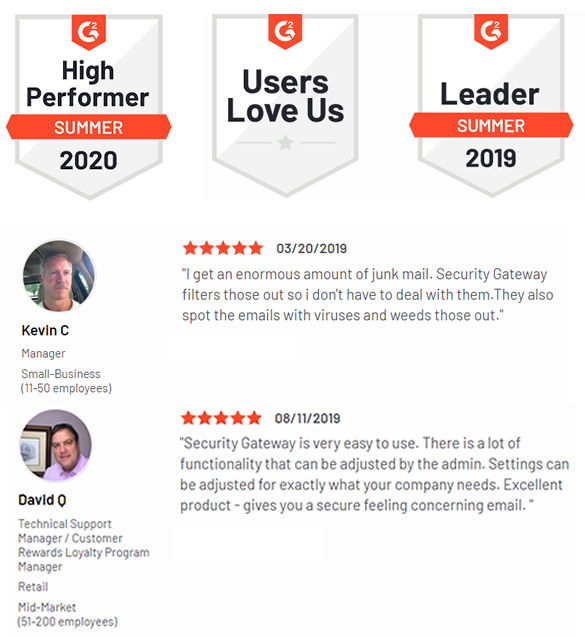 G2 Customer Reviews of Security Gateway