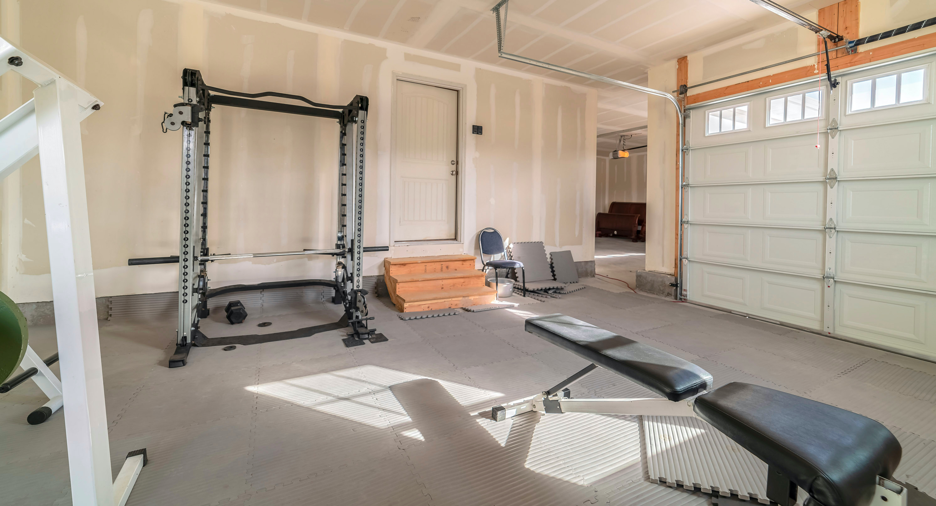 Gym in garage